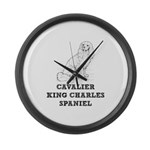 Cavalier King Charles Spaniel Large Wall Clock