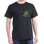 Butterfly Orchid Pocket Dark T-Shirt