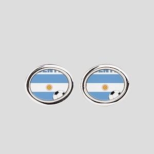 Argentina soccer Oval Cufflinks