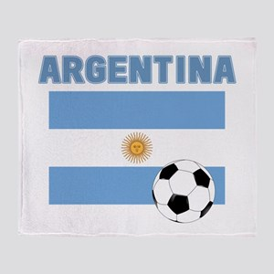 Argentina soccer Throw Blanket