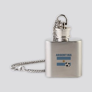 Argentina soccer Flask Necklace