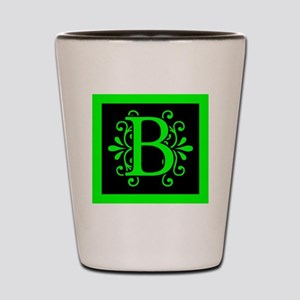 MONOGRAM B FLORESCENT GREEN & BLACK Shot Glass