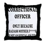 Badass CO Throw Pillow