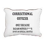 Badass CO Rectangular Canvas Pillow