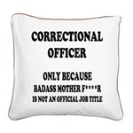 Badass CO Square Canvas Pillow