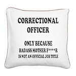 Badass CO Square Canvas Pillow