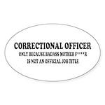 Badass CO Sticker (Oval)