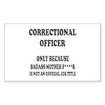 Badass CO Sticker (Rectangle 50 pk)