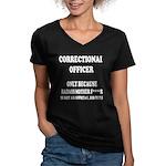 Badass CO Women's V-Neck Dark T-Shirt