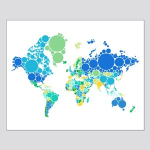 abstract world map with dots Posters