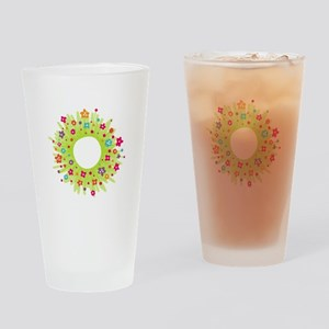 Spring Flower Wearth Drinking Glass