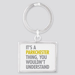 Parkchester Bronx NY Thing Landscape Keychain