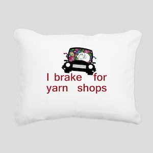 Brake for yarn shops Rectangular Canvas Pillow