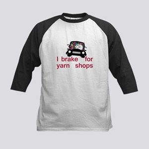 Brake for yarn shops Kids Baseball Jersey