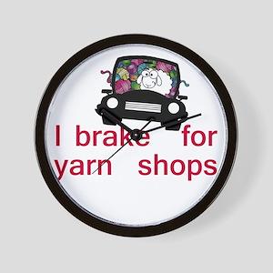 Brake for yarn shops Wall Clock