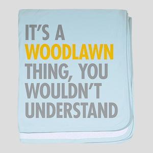 Woodlawn Bronx NY Thing baby blanket