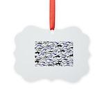 Swim in Dolphins Pattern B Ornament