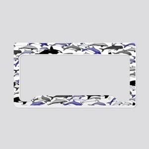 Swim in Dolphins Pattern B License Plate Holder