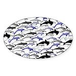 Swim in Dolphins Pattern B Sticker