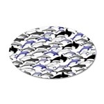 Swim in Dolphins Pattern B Wall Decal