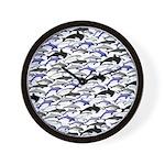 Swim in Dolphins Pattern B Wall Clock