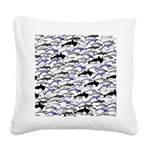Swim in Dolphins Pattern B Square Canvas Pillow