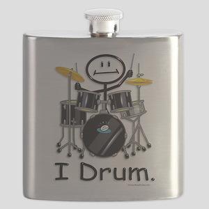 Stick Figure Drums Flask