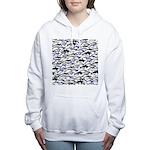 Swim in Dolphins Pattern B Women's Hooded Sweatshi