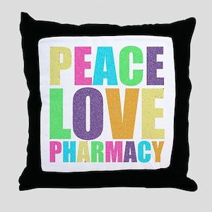 Peace Love Pharmacy Throw Pillow