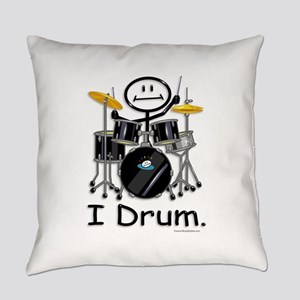 Stick Figure Drums Everyday Pillow