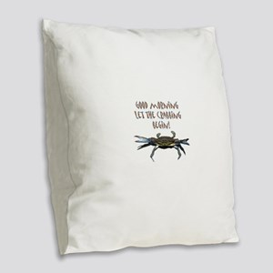 crabB Burlap Throw Pillow