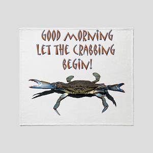 crabB Throw Blanket