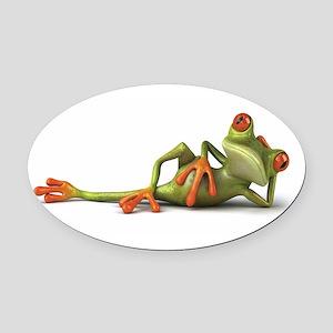 Frog Oval Car Magnet