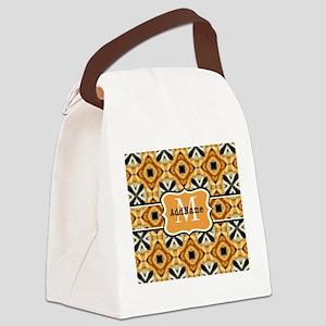 Faux Fur Pattern Custom Monogram Canvas Lunch Bag