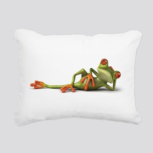 Frog Rectangular Canvas Pillow