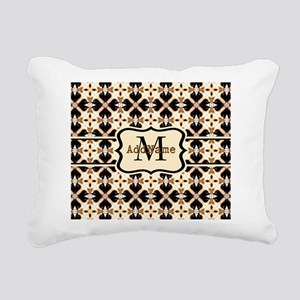 Black and Gold Personali Rectangular Canvas Pillow