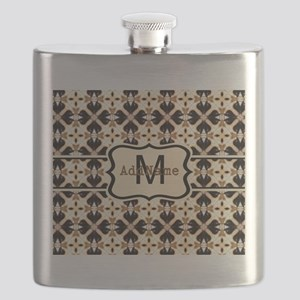 Black and Gold Personalized Flask