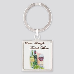 Live Laugh Wine Keychains