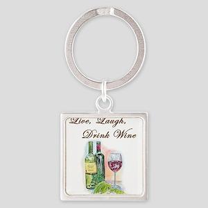 Live Laugh Wine Keychains