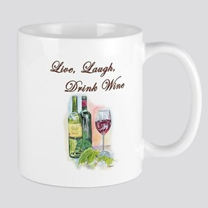 Live Laugh Wine Mugs