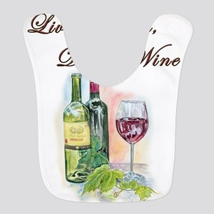 Live Laugh Wine Bib