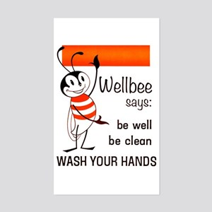 Wellbee Says, 1964 Sticker (rectangle)