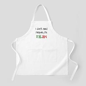 italian recipes Apron