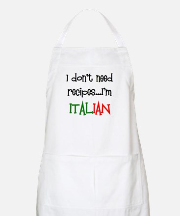 italian recipes Apron