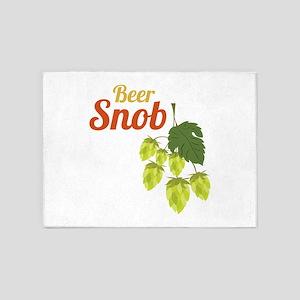 Beer Snob 5'x7'Area Rug