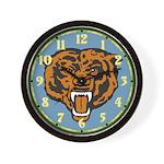 Fierce Bear Wall Clock