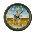 Wolf Stare Large Wall Clock
