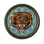Fierce Bear Large Wall Clock