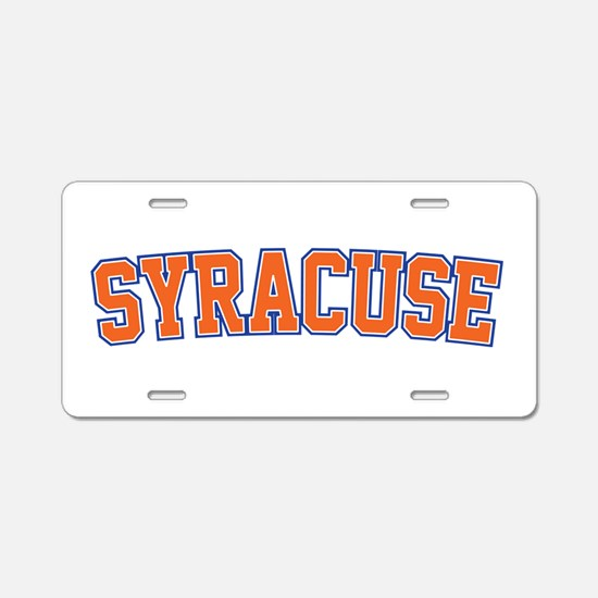 Syracuse - Jersey Aluminum License Plate