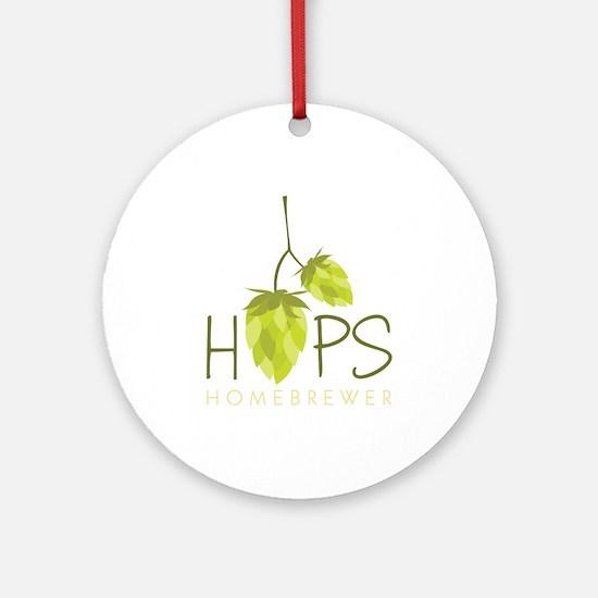 Homebrewer Ornament (Round)